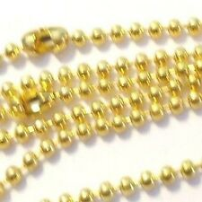 10 Gold Plated 1.5mm ball Chain Necklaces - 18 inch lenght - A5483