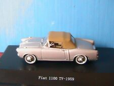 FIAT 1100 TV SILVER METAL 1959 STARLINE  #526029 1/43 SOFT TOP CAPOTE ARGENTE