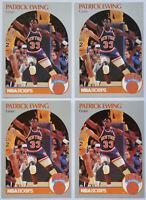 1990-91 HOOPS BASKETBALL Patrick Ewing 4x Card Lot NM #203 New York Knicks HOF