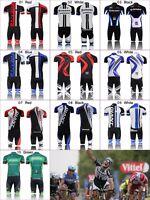 Mens Cycling Jersey Set Kit Outfits Bike Bicycle Team Clothing Shirt Short Pants
