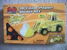 Paper Model Wheel Loader Golden 3-D Kreator Foam Paper Model Kit Loader New