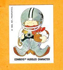ONE VINTAGE 1983 DALLAS COWBOYS HUDDLES DECAL STICKER CARD UNUSED