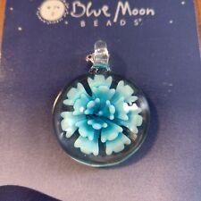 Blue Moon Beads Glass Flower Pendant