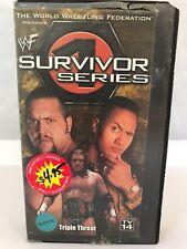 WWF Survivor Series Triple Threat The Rock Triple H Big Show DX Mankind 1999 VHS