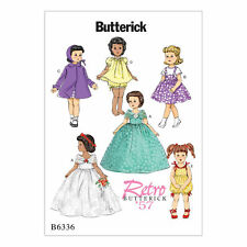 "Butterick Pattern 6336 RETRO OUTFITS FOR 18"" DOLL skirt petticoat coat hat rompe"