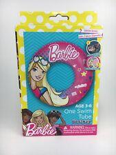 Bestway Barbie Pink Inflatable Swim Ring Intertube Tube Floaties Floats Age 3-6