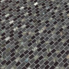 Midnight Pearl Glass Metal and Stone Mosaic Wall Tile - Msi -1=10 Sf (1=1 Boxes)