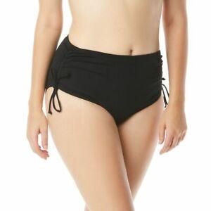 Beach House Hayden High Waisted Side Tie Bikini Bottom Women Plus Size 22W Black