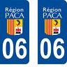 Département 06 sticker 2 autocollants style immatriculation AUTO PLAQUE paca