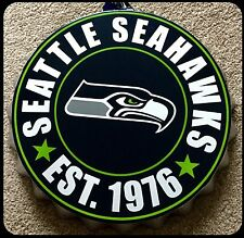 "Seattle Seahawks NFL Logo Bottle Top 13.5"" da appendere Wall Art Decoration"