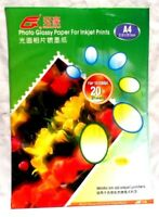 HIGH QUALITY Glossy Photo Paper for Inkjet Printer A4 20 Sheets 1440dpi 140gsm