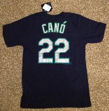 Robinson Cano #22 Majestic MLB JERSEY/SHIRT Mariners Blue YOUTH LARGE/L 14-16