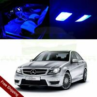14X Blue Car Interior LED Package Light For Mercedes Benz C-Class W203 2000-2007