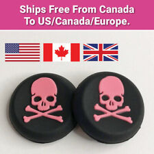 Skull and Crossbones Silicone Thumb Grip Caps for PS4 PS5 Xbox 360 Free Shipping