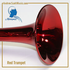Trumpet - Masterpiece - New - Red and Silver with Case & Oil - 12 Month Warranty