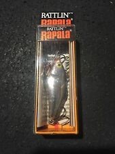 "Rapala RNR 4 Rattlin Rap CH Chrome Black 1-1/2"" 3/16 Oz (made In Ireland)"