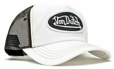 Authentic Brand New Von Dutch BLACK mesh on WHITE Cap Hat Trucker Mesh Snapback