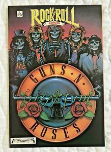 1989 1st Printing Revolutionary Rock n Roll Comics Guns Roses Comic Book 1