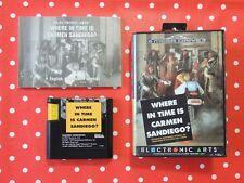Where in time is Carmen Sandiego? Sega Mega Drive en OVP con instrucciones