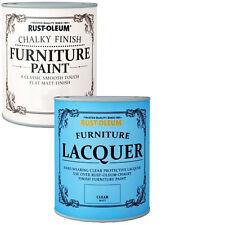 Rust-Oleum Crayeux Meuble Peinture Usé Chic 750ml Blanc 125ml Laque