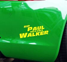 Pegatinas RIP paul walker coche JDM tuning OEM decal StickerBomb 15x6 cm amarillo