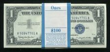 (100) CONSECUTIVE 1957-B $1 ONE DOLLAR SILVER CERTIFICATES GEM UNCIRCULATED