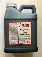 Angelus Brand Navy Blue leather acrylic paint 16 oz./1 pint