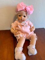 "Monika Levenig Porcelain Doll 16"" Porcelain Doll (stuffed body) 2002"