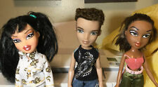 Lot Of 3 Bratz Dolls 2001-2003 Boyz Jade Dylan Sasha w Clothes & Shoes