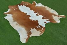 Real Cow hide Hair on Cowhide Skin Area Rug Leather Carpet 2796 Large 5.5x5.5 Ft