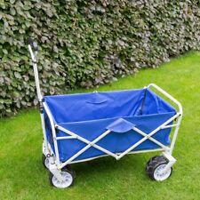 Strandwagen Bollerwagen klappbar Handwagen faltbar Transportwagen blau