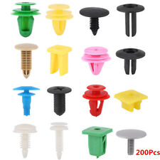 200Pcs Car Plastic Door Panel Bumper Push Pin Rivet Retainer Trim Clips Fastener