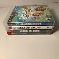 Lot Of 4 PlayStation 3 PS3 Games: NCAA Football 08, Batman Arkham Asylum, MLB 07