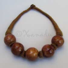 Brown Chocolate Porcelain Necklace With Eclectic Brown Cotton Thread Cords