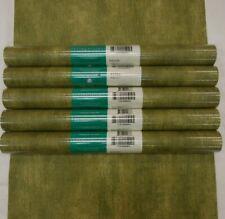 Faux Crackle Dark Green Wallpaper #H3200 (Lot of 5 Double Rolls)