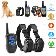 Anti Bark Dog Training Device Collar Stop Barking Rechargeable Remote & Receiver