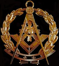Masonic Collar Grand Past Master Jewel GOLDEN Freemason Mason