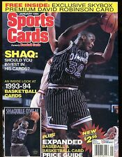 Sports Cards Magazine January 1994 Shaquille O'Neal w/Mint Cards jhscd5