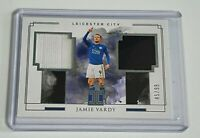 JAMIE VARDY DUAL PATCH PLAYER WORN /99 - PANINI IMPECCABLE 2019/20 - LEICESTER