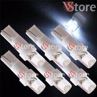 6 Lampade LED T5 BIANCO Luci Per Quadro Strumenti e Posizione CONCAVE Fari 5W
