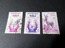 AFRIQUE TOGO, LOT 3 timbres années '60 oblitérés, VF used cancelled stamps