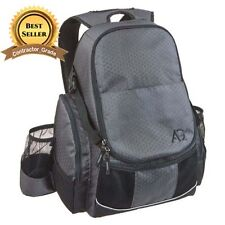 New Gray & Black Disc Golf Backpack Holds 21+ Discs Deluxe Frisbee Bag Ultimate
