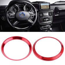 Car Steering Wheel Ring Red Cover Trim for Mercedes Benz CLA GLK A Class LJ4