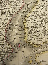 1813 DATED ANTIQUE MAP ~ SWEDEN & NORWAY FINLAND NORLAND GOTHLAND CHRISTIANLAND