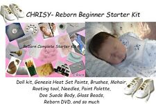 Reborn baby Complete Starter Beginner Kit, Genesis paints, Mohair, Doll, CHRISY