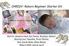 Reborn baby Complete Starter Beginner Kit, Genesis paints, Mohair, Doll, CHRISY