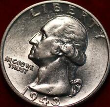 Uncirculated 1943-S San Francisco Mint Silver Washington Quarter