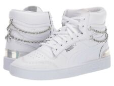 NEW Womens PUMA  Ralph Sampson Bling Sneaker White Silver Size 6