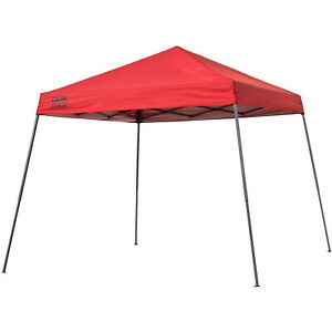 Quik Shade Expedition 10'x10' Instant Pop Up Outdoor Canopy Tent Shelter, Red