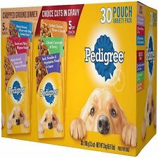 Pedigree Pouches 6 Flavor Variety Pack (30 ct.)NEW FREE SHIPPING